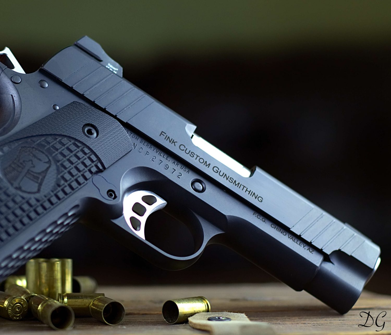 hot bluing at home with custom 1911 45 acp