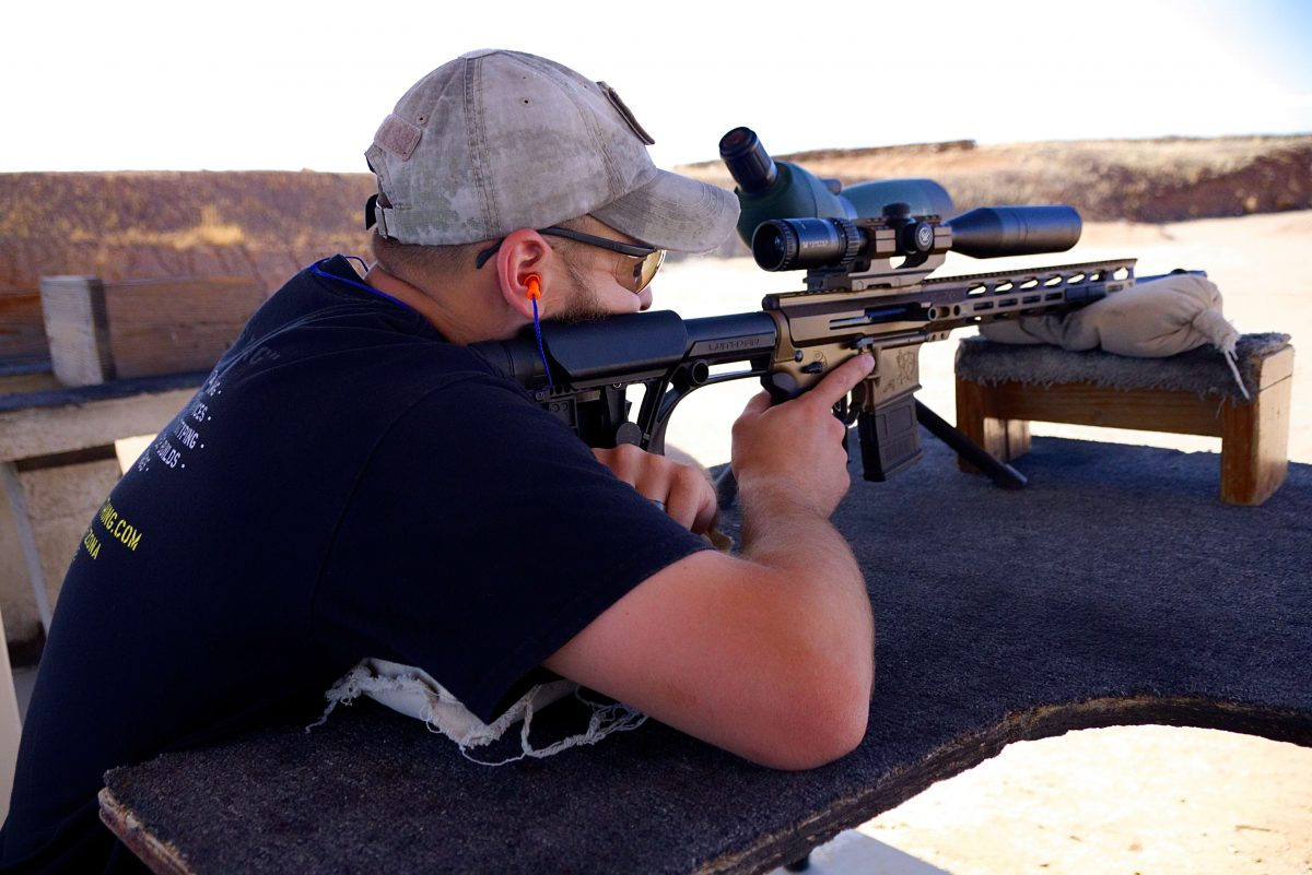 reblue rifle demonstration with scope